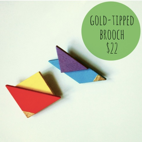 Shupg Wooden Coloured Necklace & Brooch 5